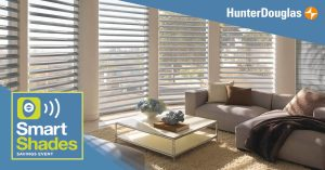 Hunter Douglas Pirouette with smart technology