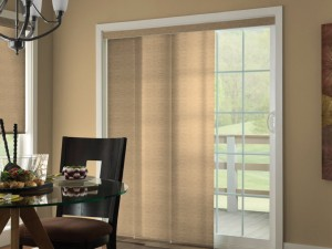 Comfortex Tan Panel Track Dining Room