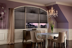 Graber Arch Cellular Shade diningroom black swan