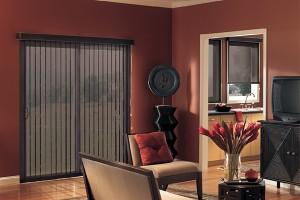 Graber Vertical Stratus Solar Shade livingroom