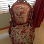 Guest Bedroom antique chair upholstery