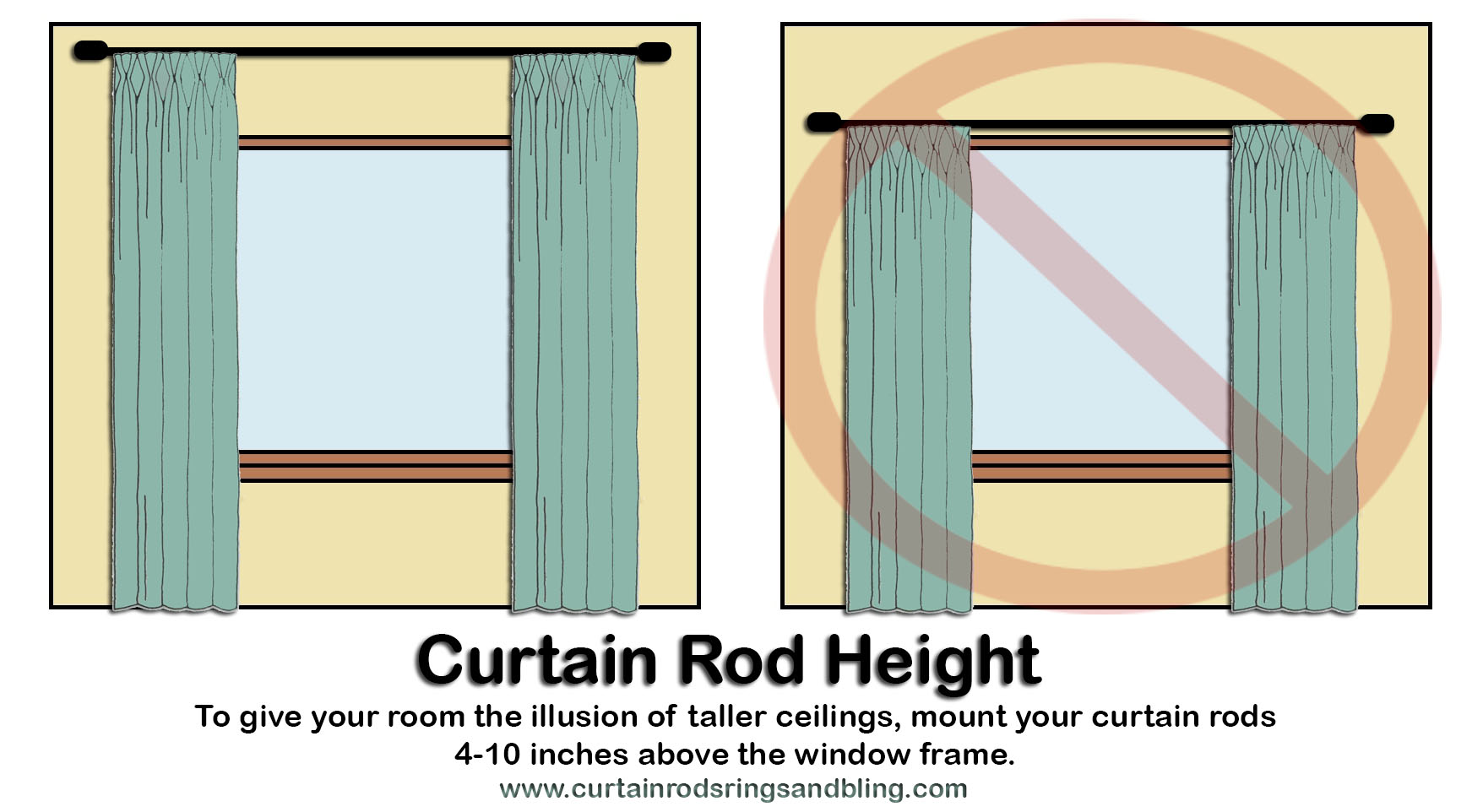 how to hang up curtain rods mount curtain rods height abda abda window fashions 8674