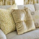 Pillows gold and geometric shapes ABDA
