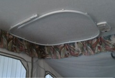 RV Camper Shower Curtain Rods