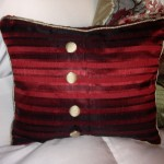 custom pillows stripe red