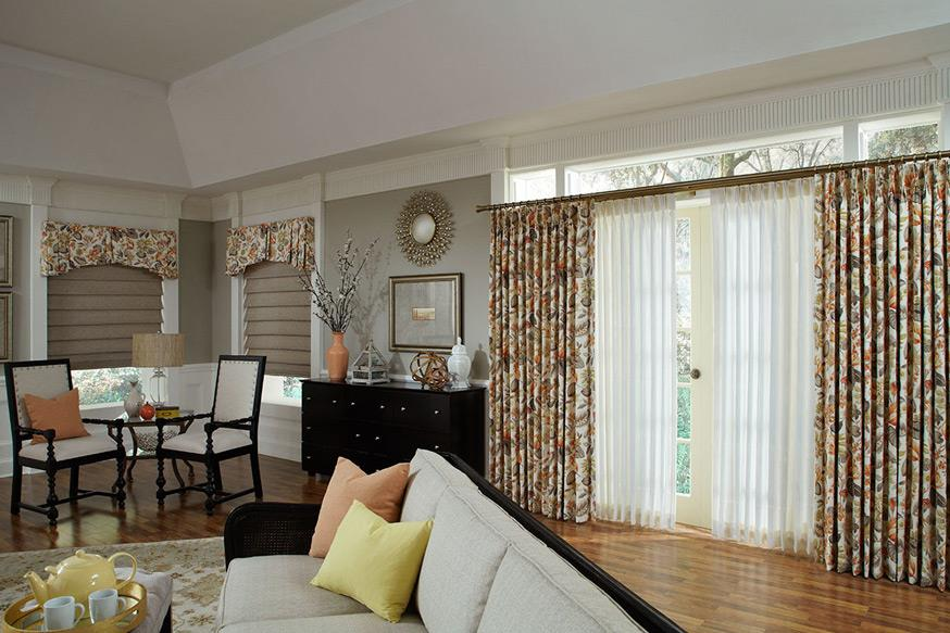 fall colors curtains and draperies Abda Indianapolis Window Treatments