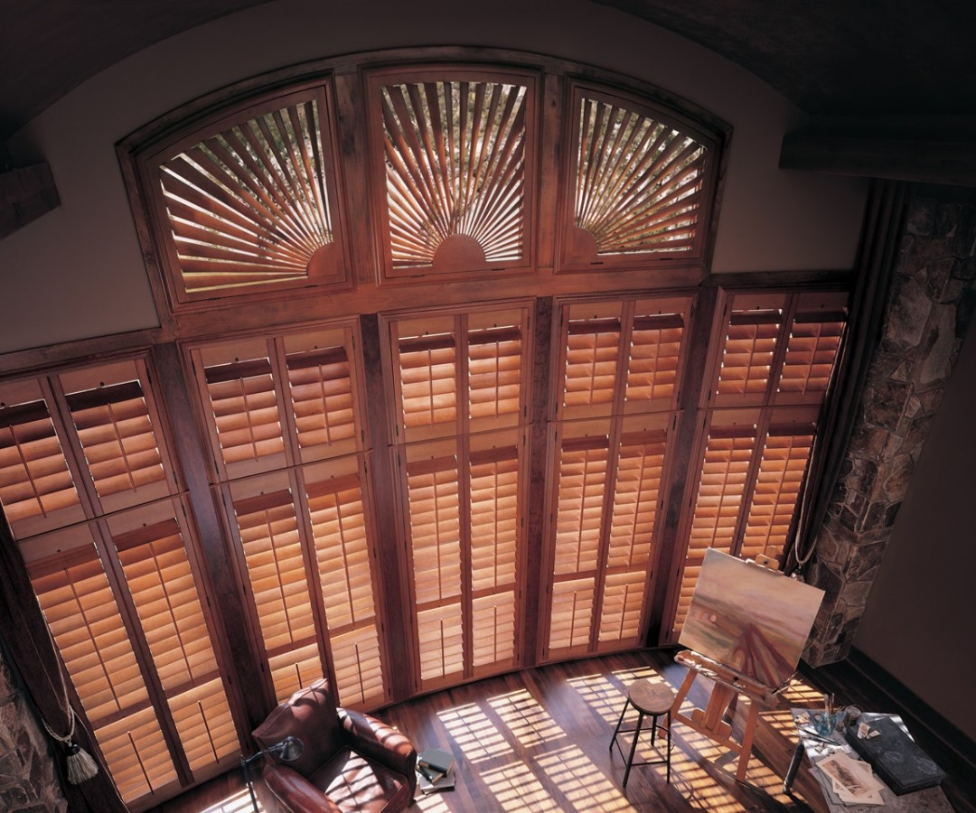 Specialty Shaped Shutters, Plantation Shutters