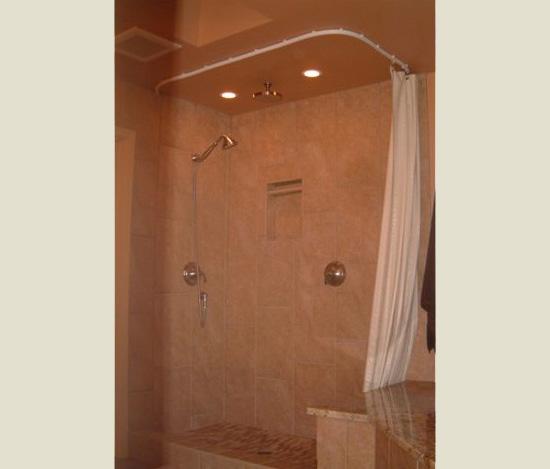 Rod Shower Curtain Ceiling Rod Bendable Flexable Abda Window Fashions