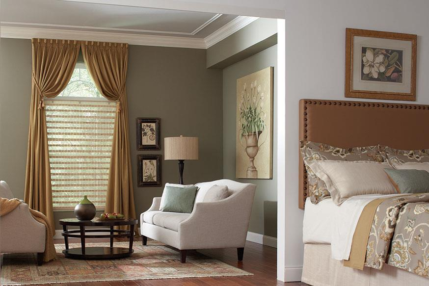 sage walls master bedroom goblet curtains and draperies Abda ...